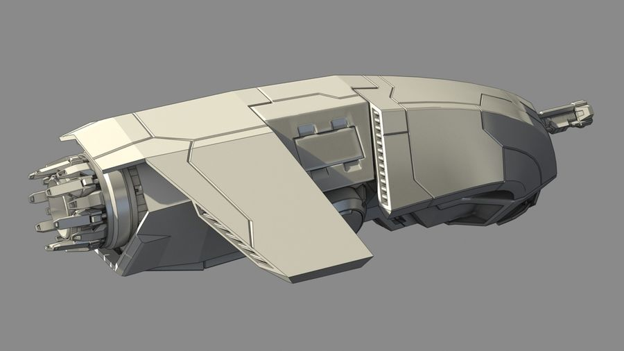 Space fighter royalty-free 3d model - Preview no. 3