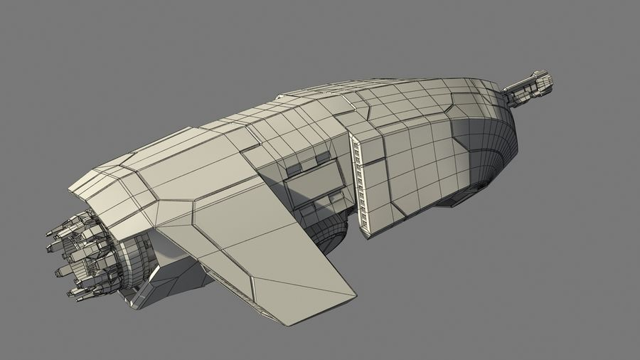 Space fighter royalty-free 3d model - Preview no. 10