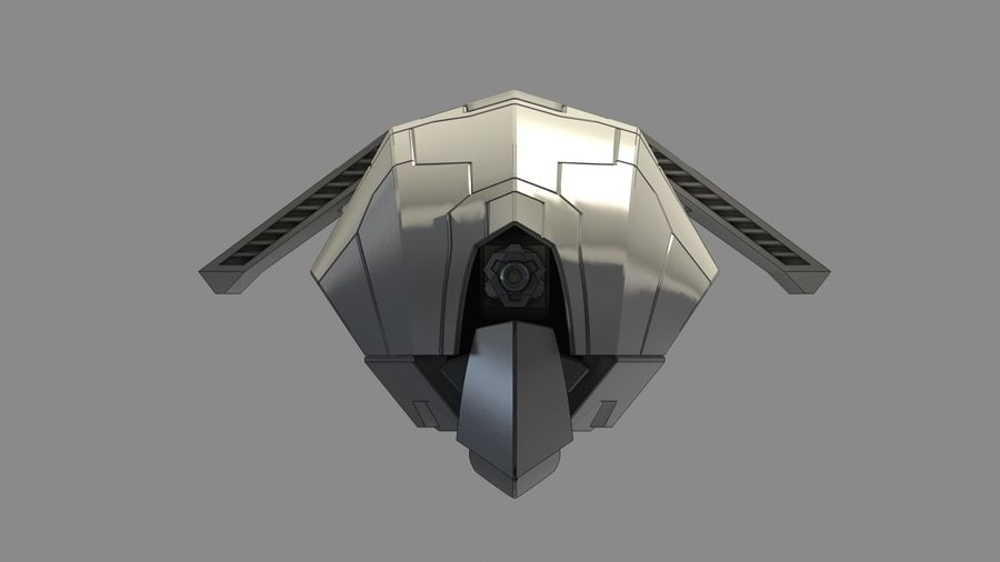 Space fighter royalty-free 3d model - Preview no. 9