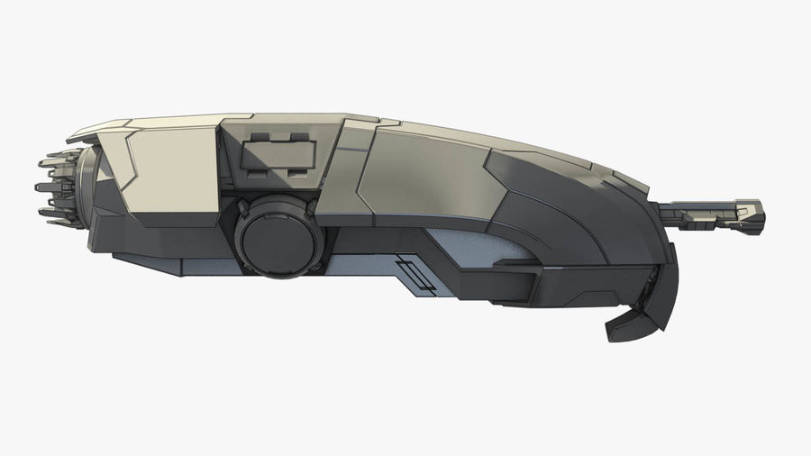 Space fighter royalty-free 3d model - Preview no. 1