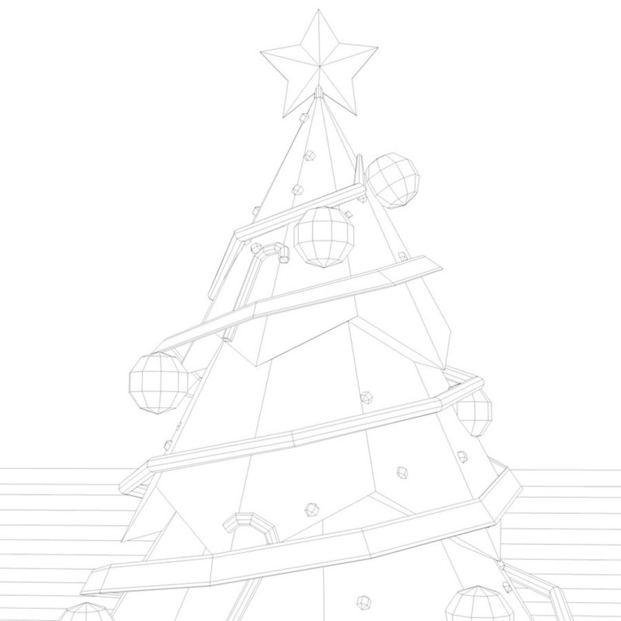 Low Poly Christmas Tree royalty-free 3d model - Preview no. 4