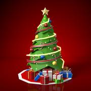 Laag Poly kerstboom 3d model