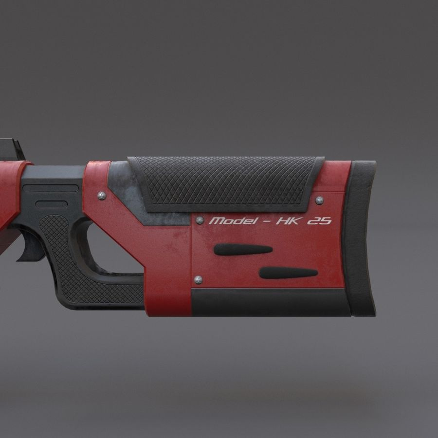 Scifi Rifle 05 royalty-free 3d model - Preview no. 11