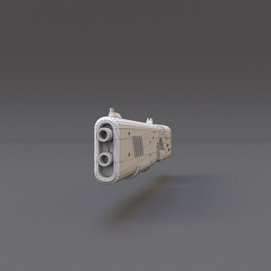 Scifi Rifle 05 royalty-free 3d model - Preview no. 16