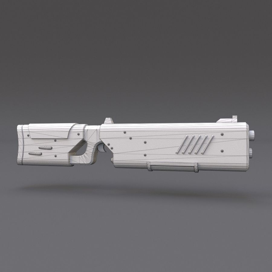 Scifi Rifle 05 royalty-free 3d model - Preview no. 18