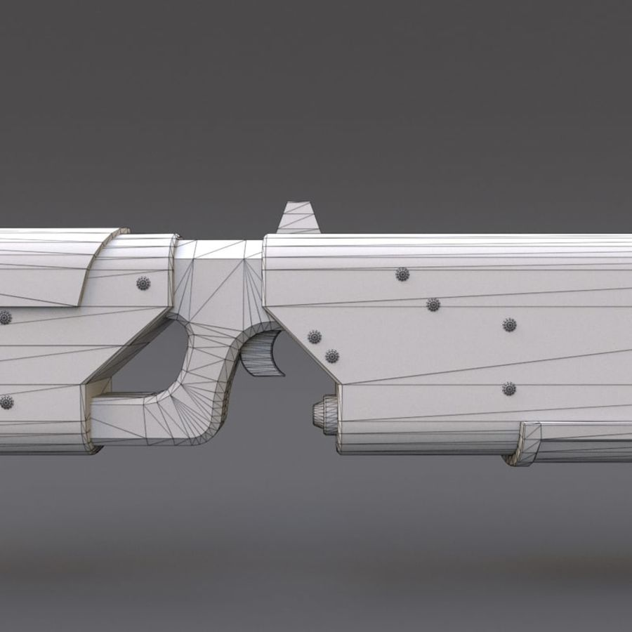 Scifi Rifle 05 royalty-free 3d model - Preview no. 27