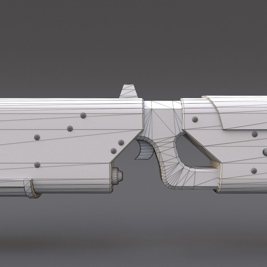 Scifi Rifle 05 royalty-free 3d model - Preview no. 24