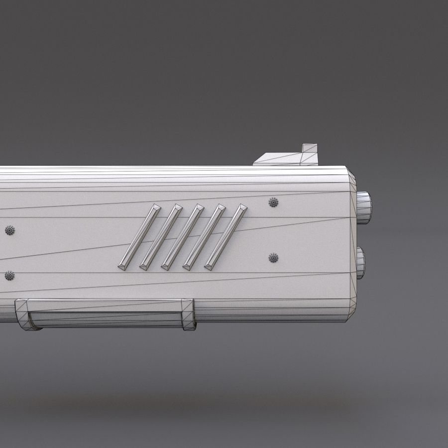 Scifi Rifle 05 royalty-free 3d model - Preview no. 26