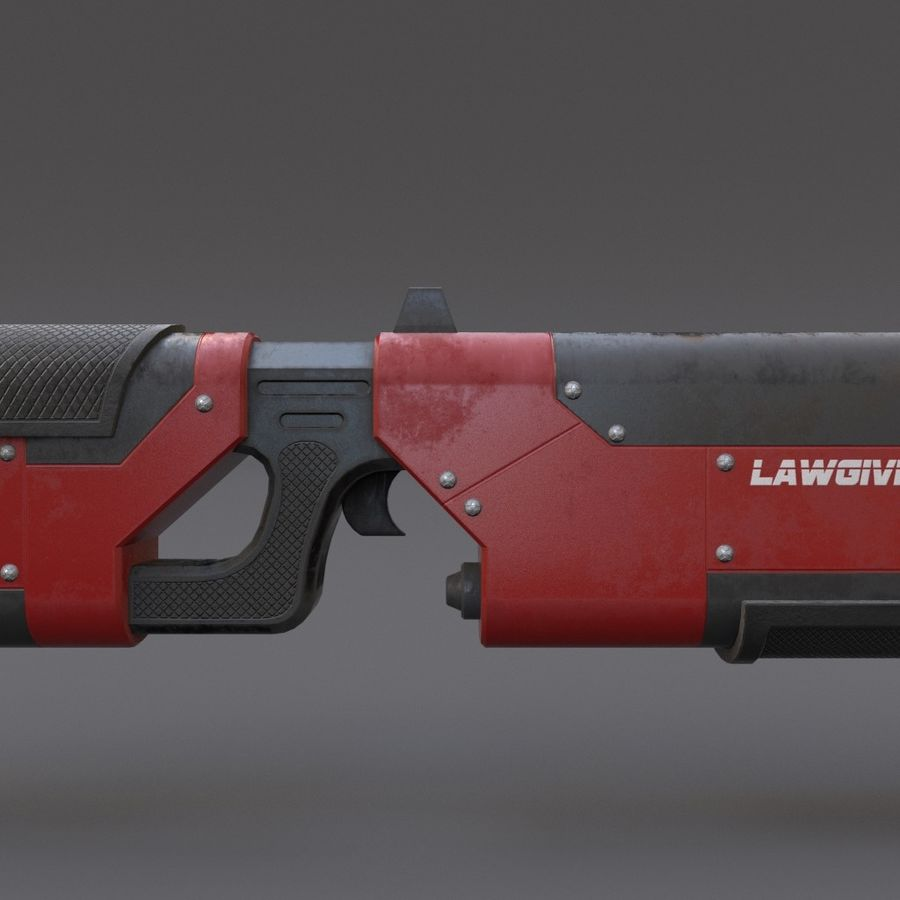 Scifi Rifle 05 royalty-free 3d model - Preview no. 13