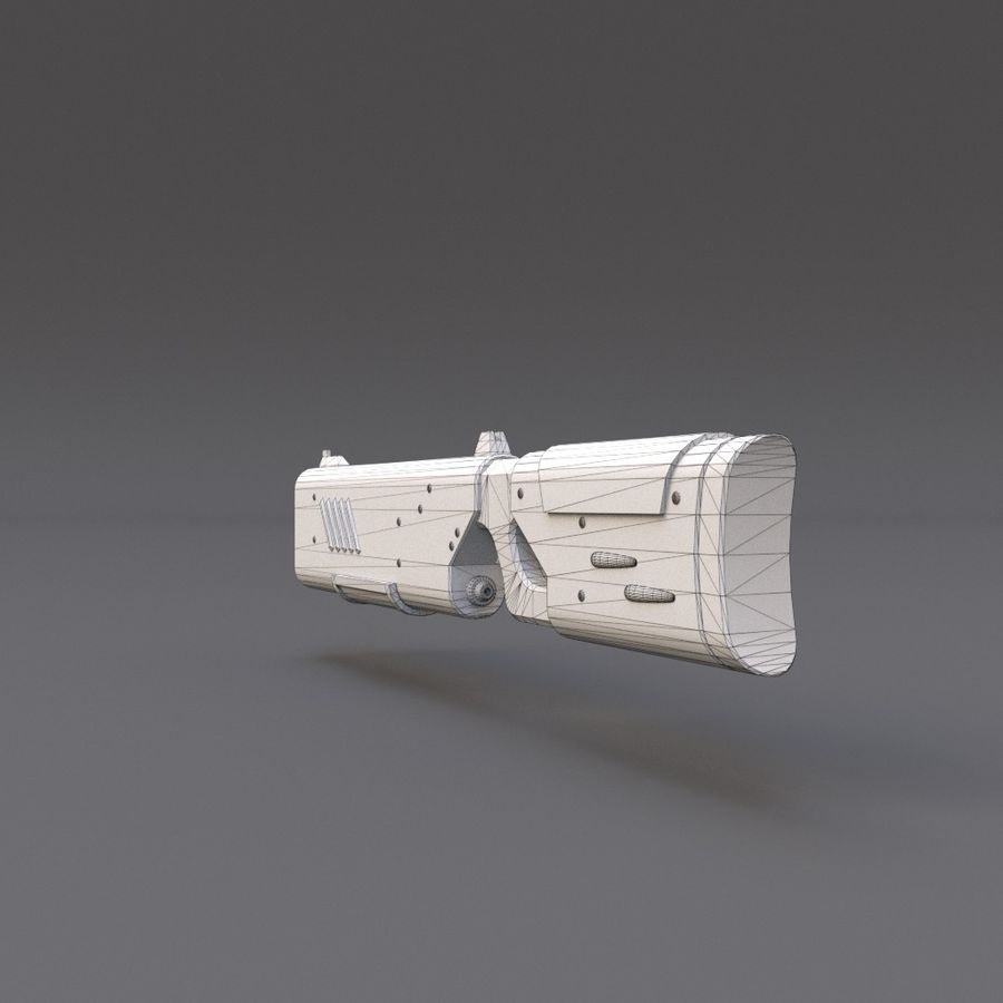 Scifi Rifle 05 royalty-free 3d model - Preview no. 21