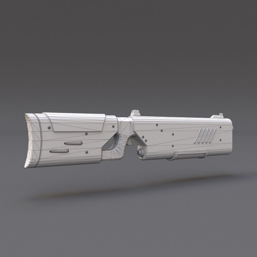 Scifi Rifle 05 royalty-free 3d model - Preview no. 19