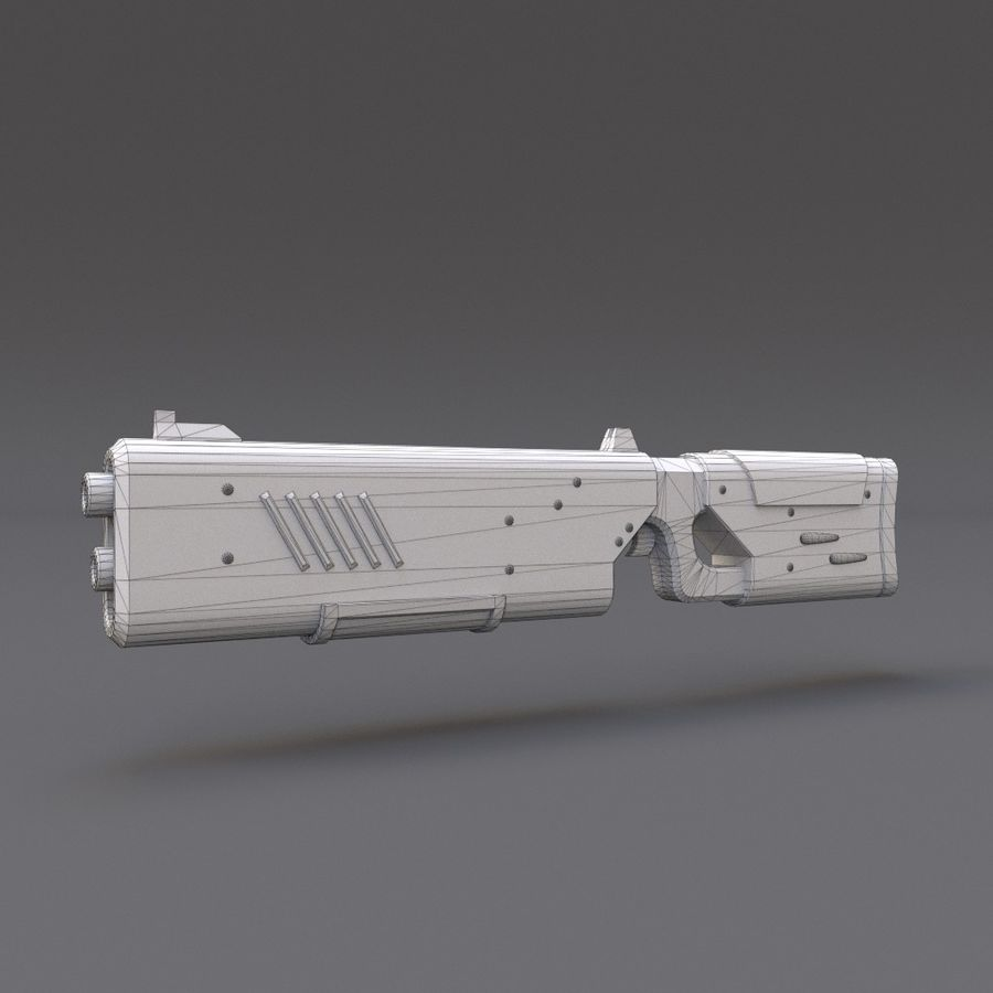 Scifi Rifle 05 royalty-free 3d model - Preview no. 15