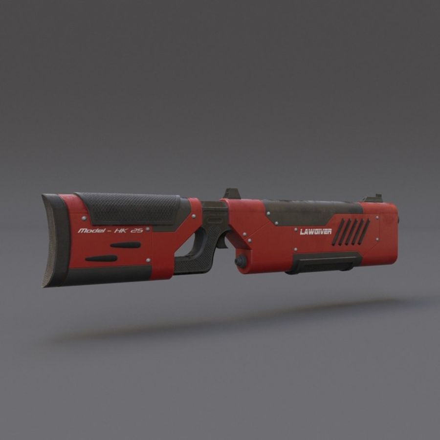 Scifi Rifle 05 royalty-free 3d model - Preview no. 5