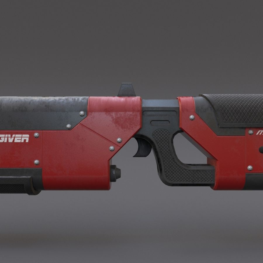 Scifi Rifle 05 royalty-free 3d model - Preview no. 10