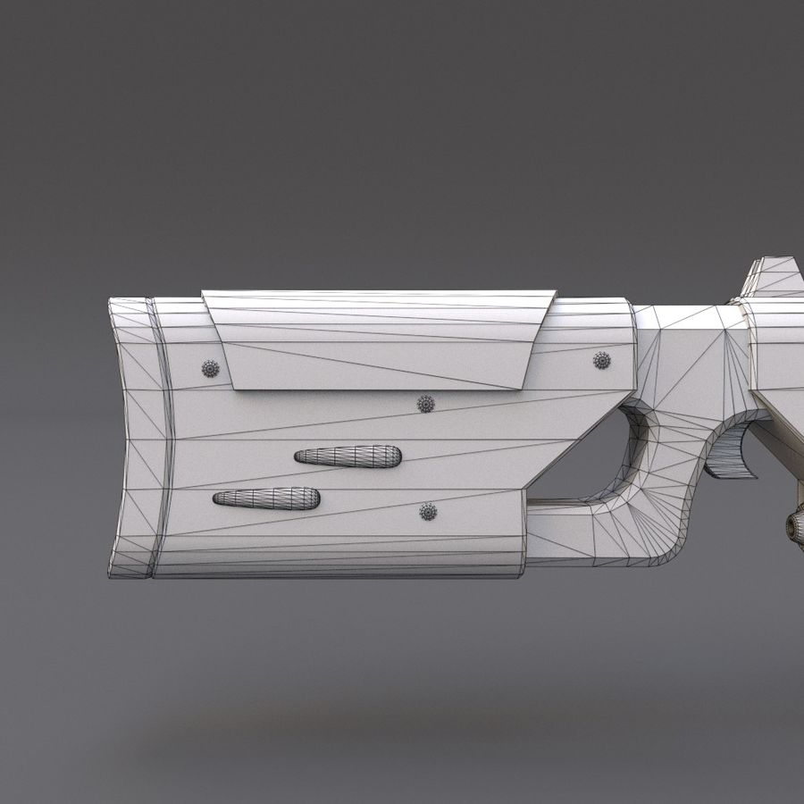 Scifi Rifle 05 royalty-free 3d model - Preview no. 28