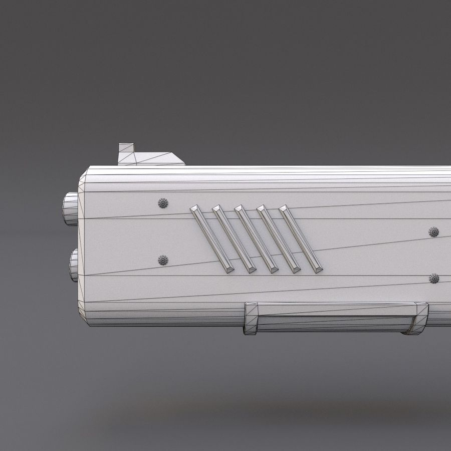 Scifi Rifle 05 royalty-free 3d model - Preview no. 23