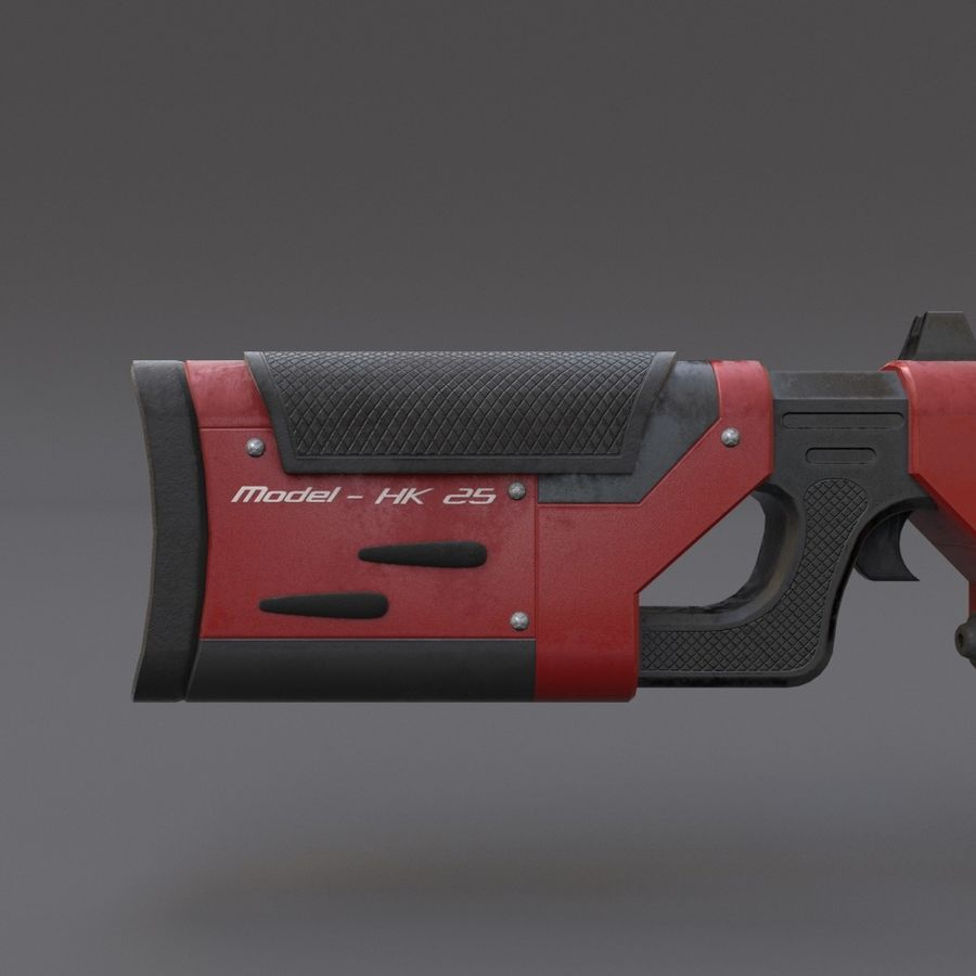 Scifi Rifle 05 royalty-free 3d model - Preview no. 14