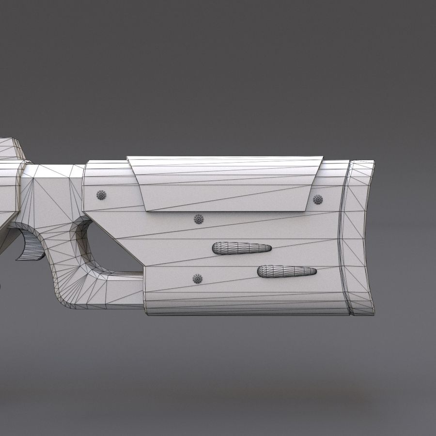 Scifi Rifle 05 royalty-free 3d model - Preview no. 25