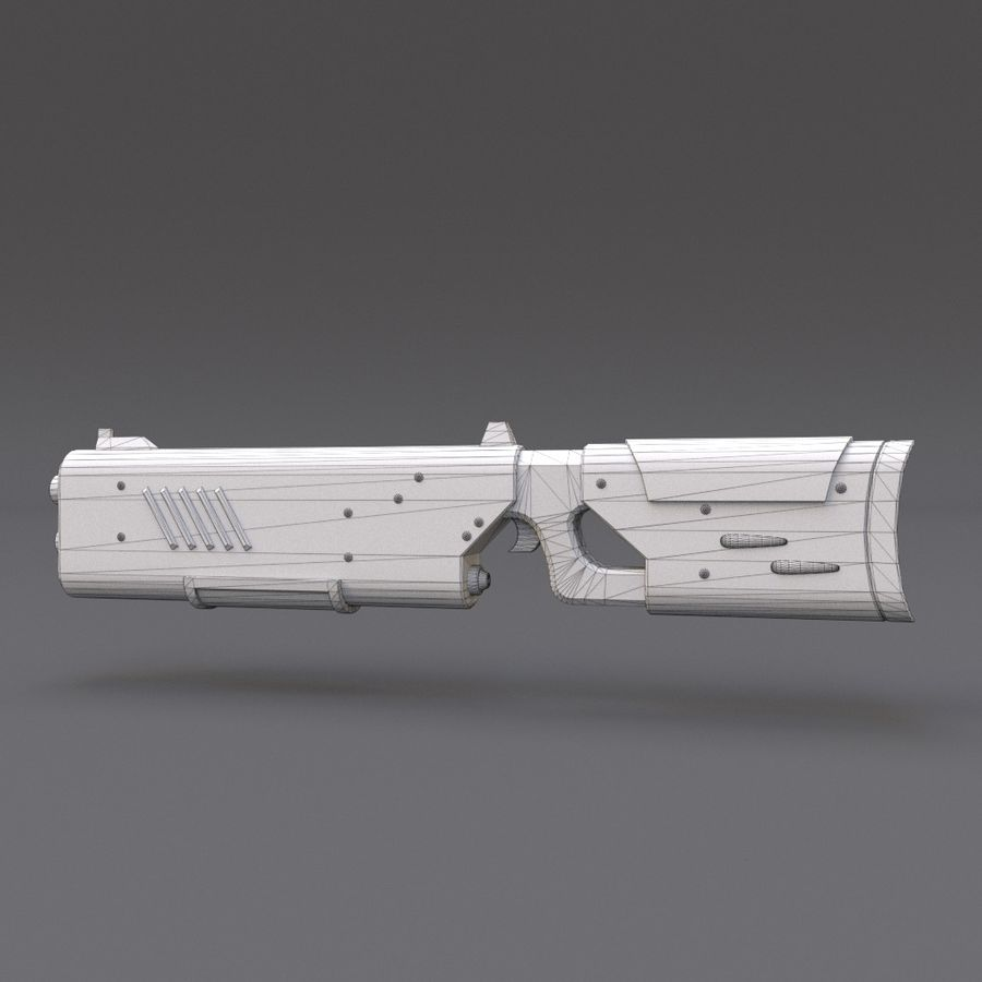 Scifi Rifle 05 royalty-free 3d model - Preview no. 22