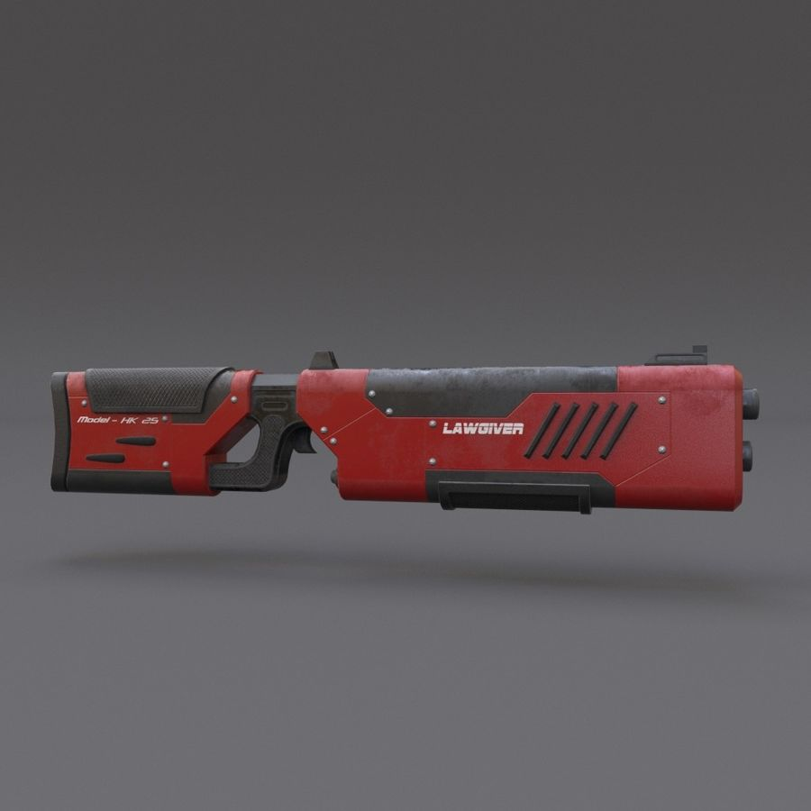 Scifi Rifle 05 royalty-free 3d model - Preview no. 4