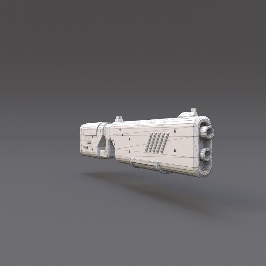 Scifi Rifle 05 royalty-free 3d model - Preview no. 17