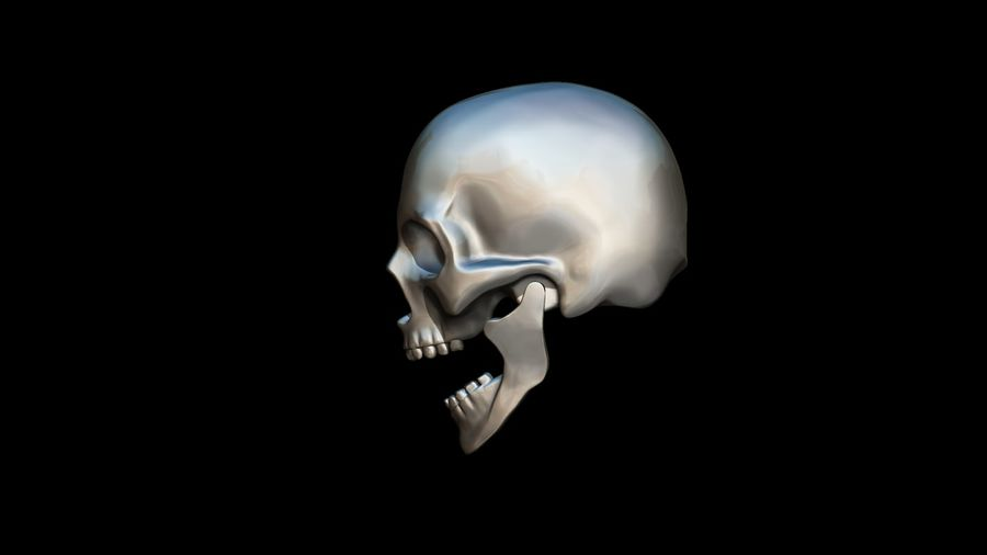 Realistic Skull pendant royalty-free 3d model - Preview no. 18