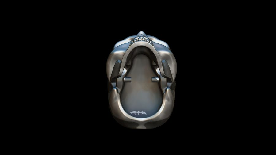 Realistic Skull pendant royalty-free 3d model - Preview no. 15