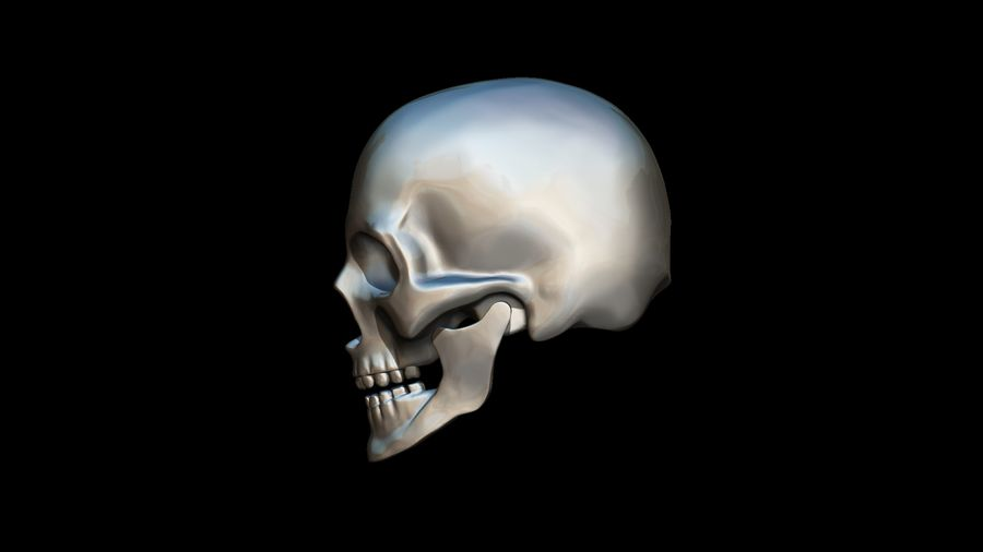 Realistic Skull pendant royalty-free 3d model - Preview no. 14
