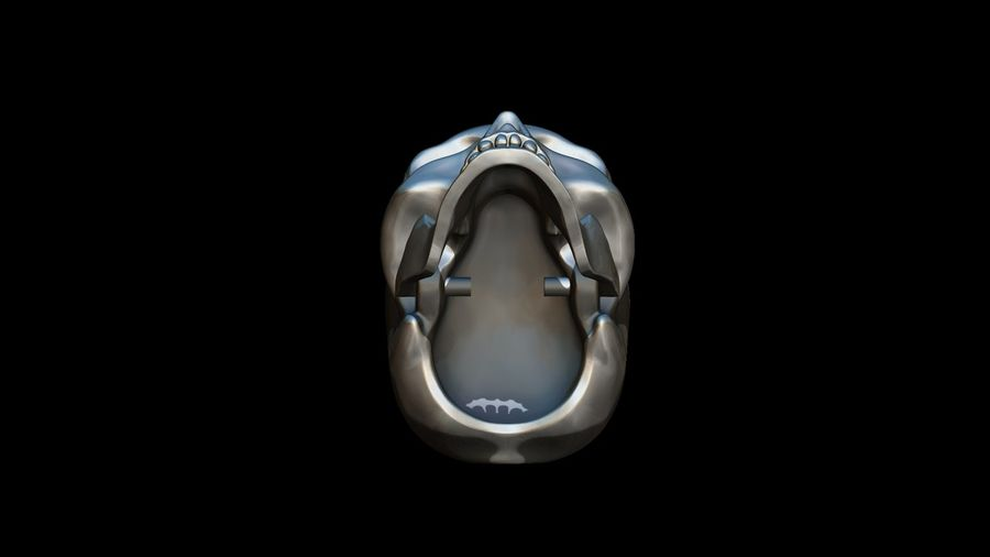 Realistic Skull pendant royalty-free 3d model - Preview no. 4