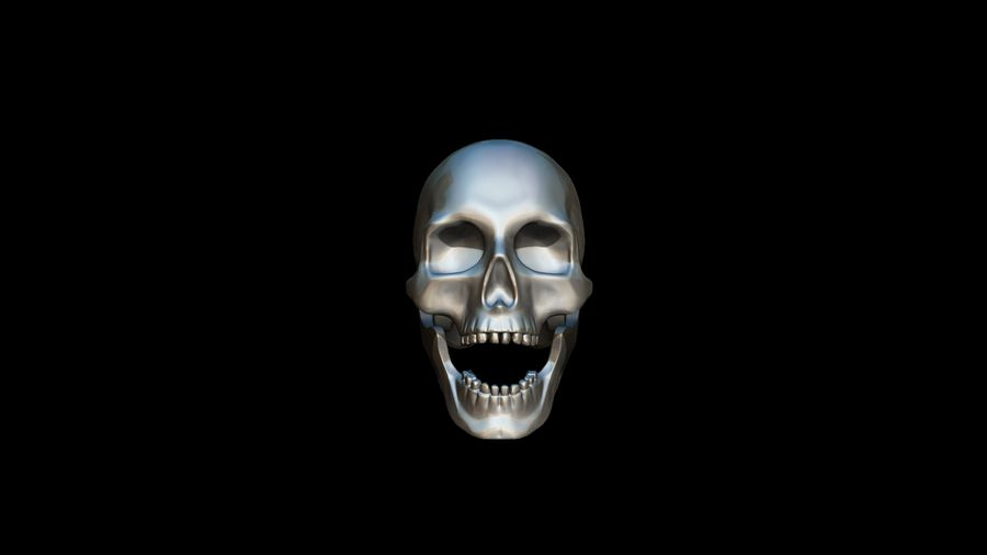 Realistic Skull pendant royalty-free 3d model - Preview no. 8