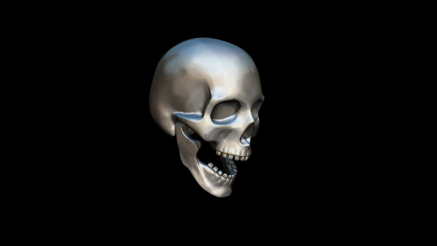 Realistic Skull pendant royalty-free 3d model - Preview no. 20