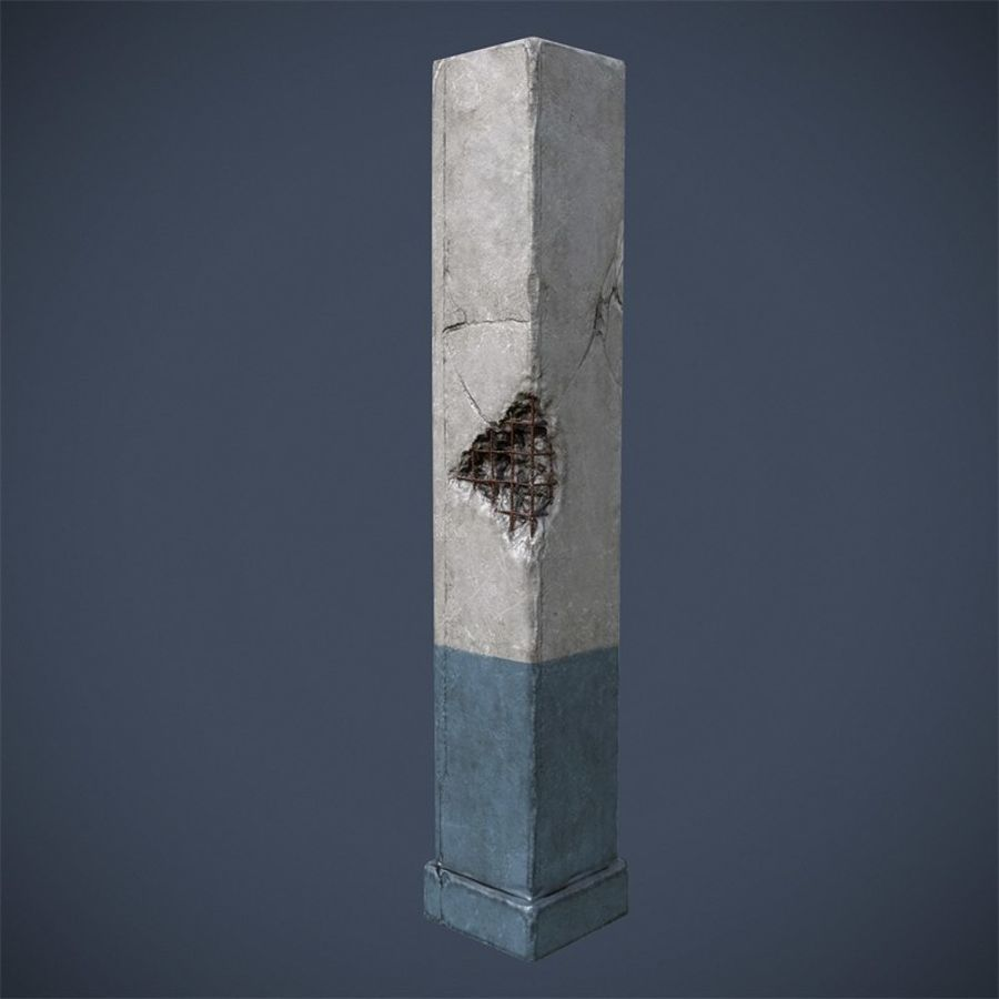 Pillar royalty-free 3d model - Preview no. 2