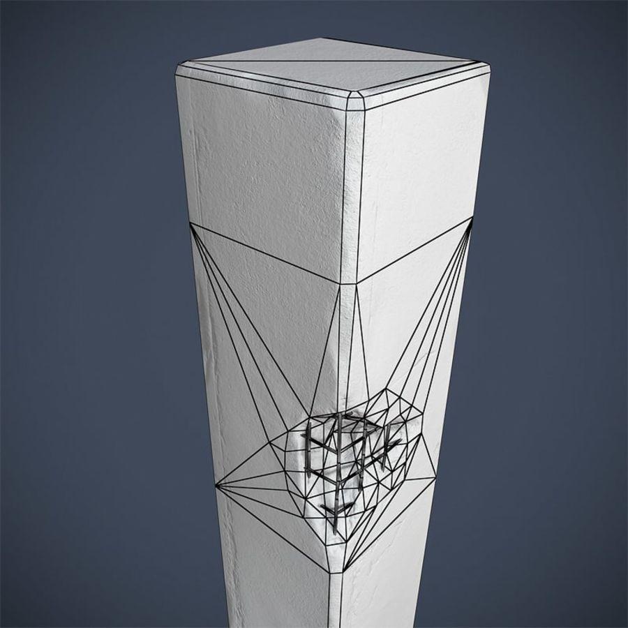 Pillar royalty-free 3d model - Preview no. 7
