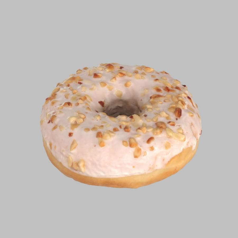Hazelnut White Chocolate Donut royalty-free 3d model - Preview no. 1