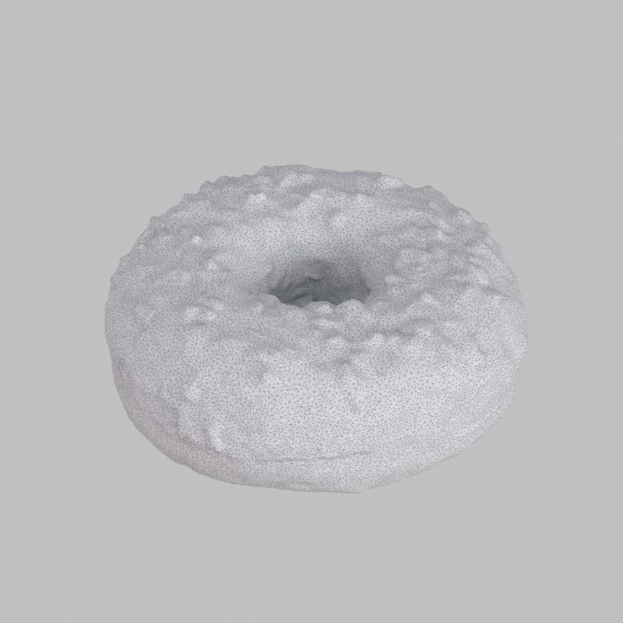 Hazelnut White Chocolate Donut royalty-free 3d model - Preview no. 6