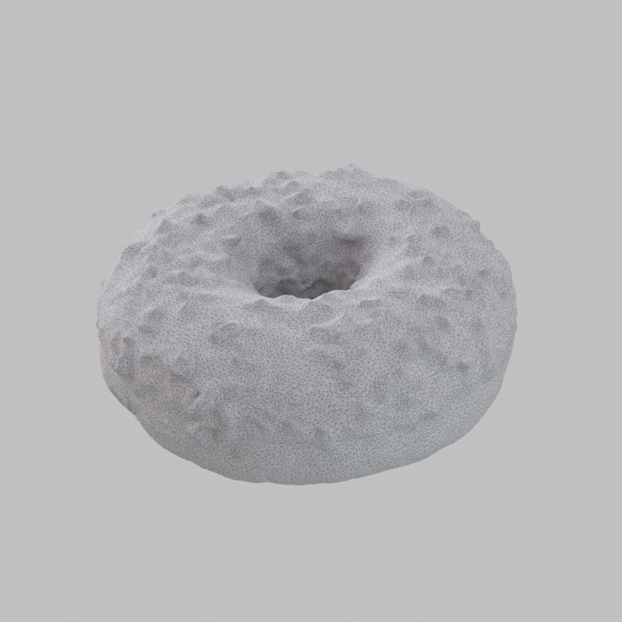 Hazelnut White Chocolate Donut royalty-free 3d model - Preview no. 8