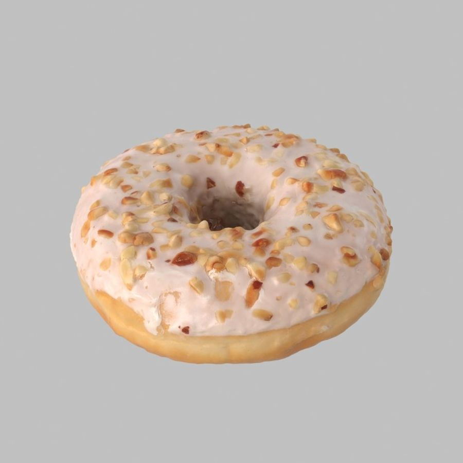 Hazelnut White Chocolate Donut royalty-free 3d model - Preview no. 2