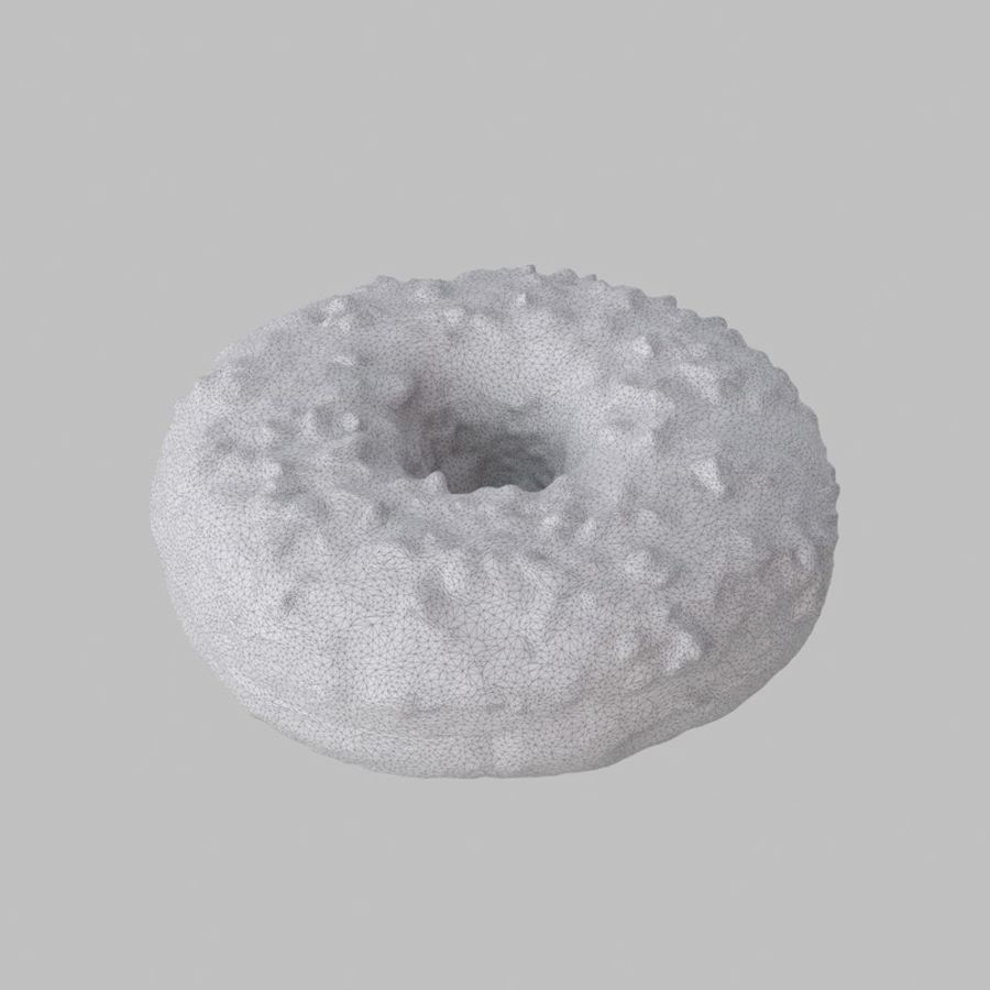 Hazelnut White Chocolate Donut royalty-free 3d model - Preview no. 7
