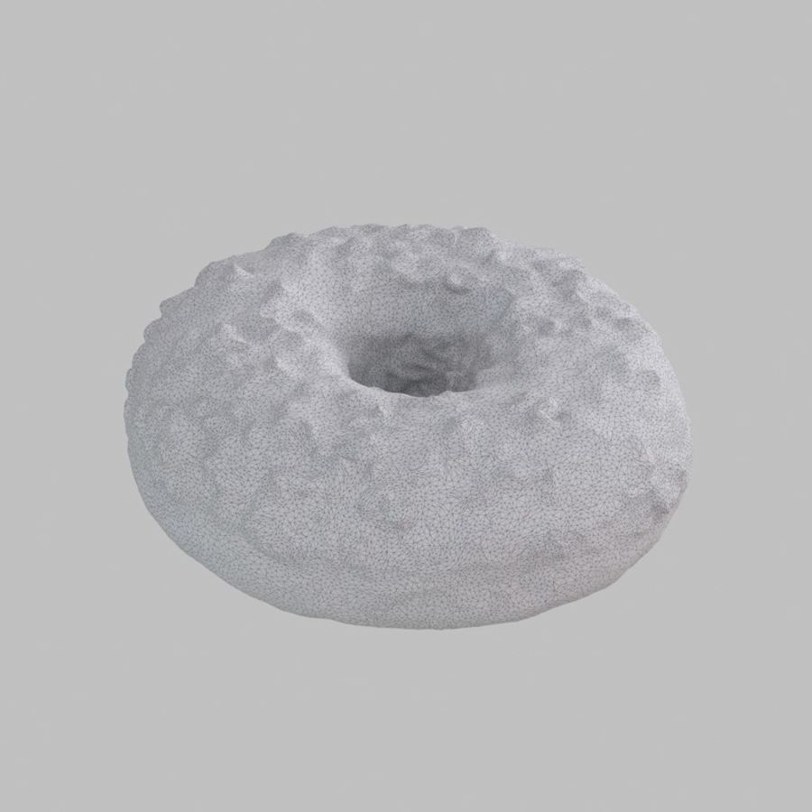 Hazelnut White Chocolate Donut royalty-free 3d model - Preview no. 9