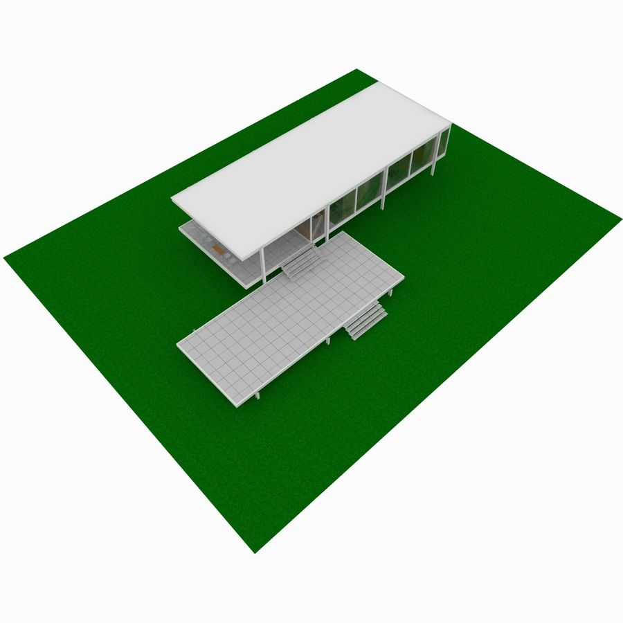3d Home Design Deluxe 6 Free Download: Farnsworth House 3D Model $20