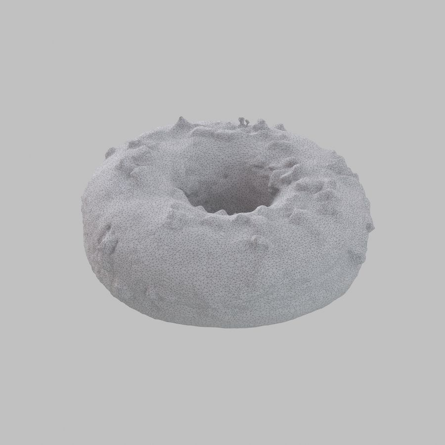 Christmas Frosting Chocolate Donut royalty-free 3d model - Preview no. 8