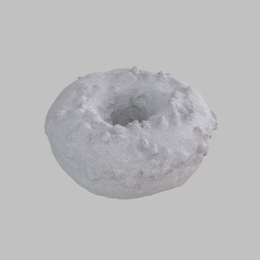 Christmas Frosting Chocolate Donut royalty-free 3d model - Preview no. 9