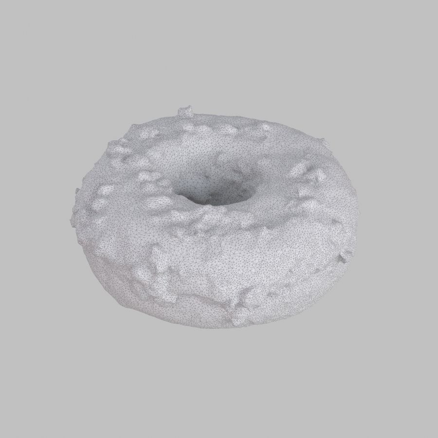 Christmas Frosting Chocolate Donut royalty-free 3d model - Preview no. 6