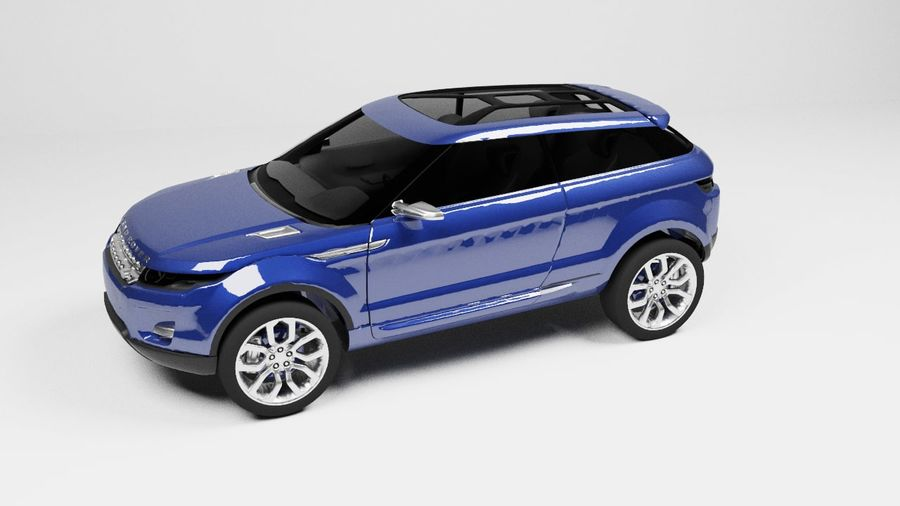 Land Rover royalty-free 3d model - Preview no. 2