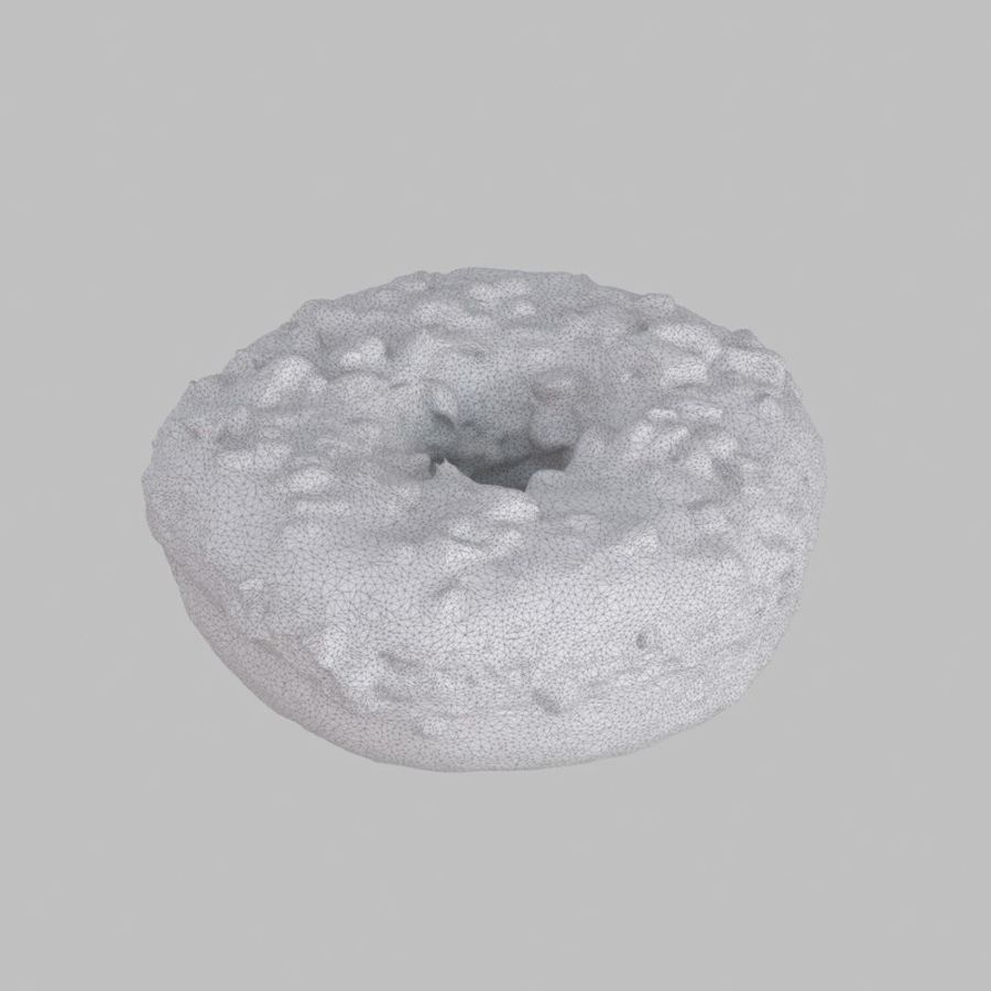 Hazelnut Frosting Chocolate Donut royalty-free 3d model - Preview no. 6