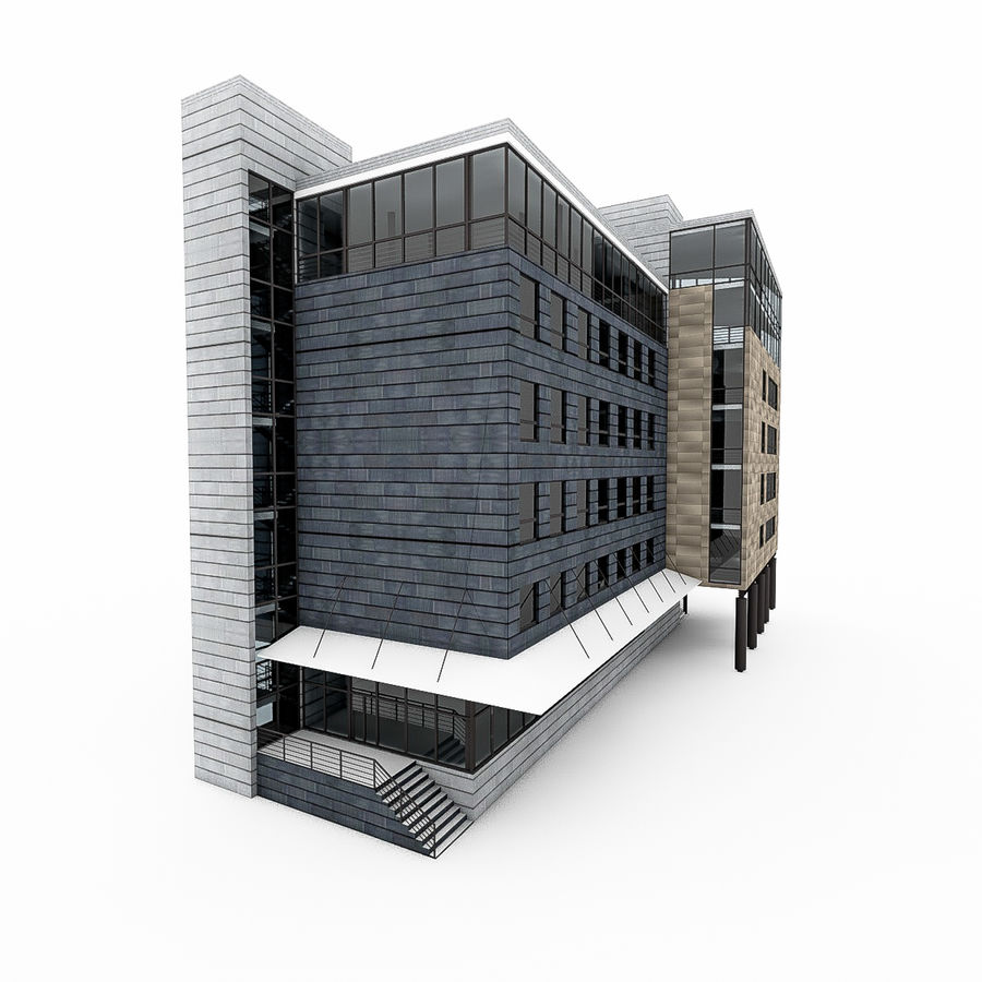 City Office Building 7 royalty-free 3d model - Preview no. 8