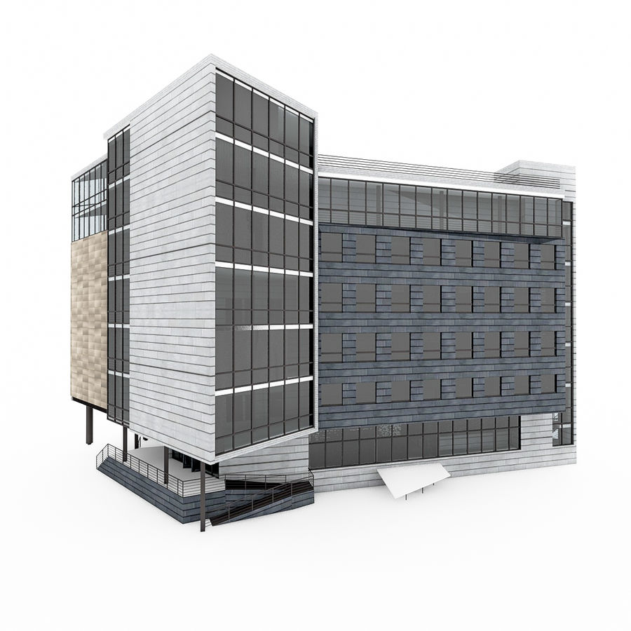 City Office Building 7 royalty-free 3d model - Preview no. 4