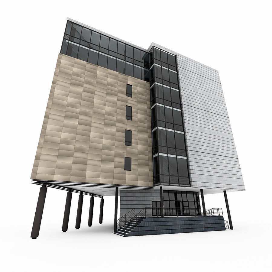 City Office Building 7 royalty-free 3d model - Preview no. 10