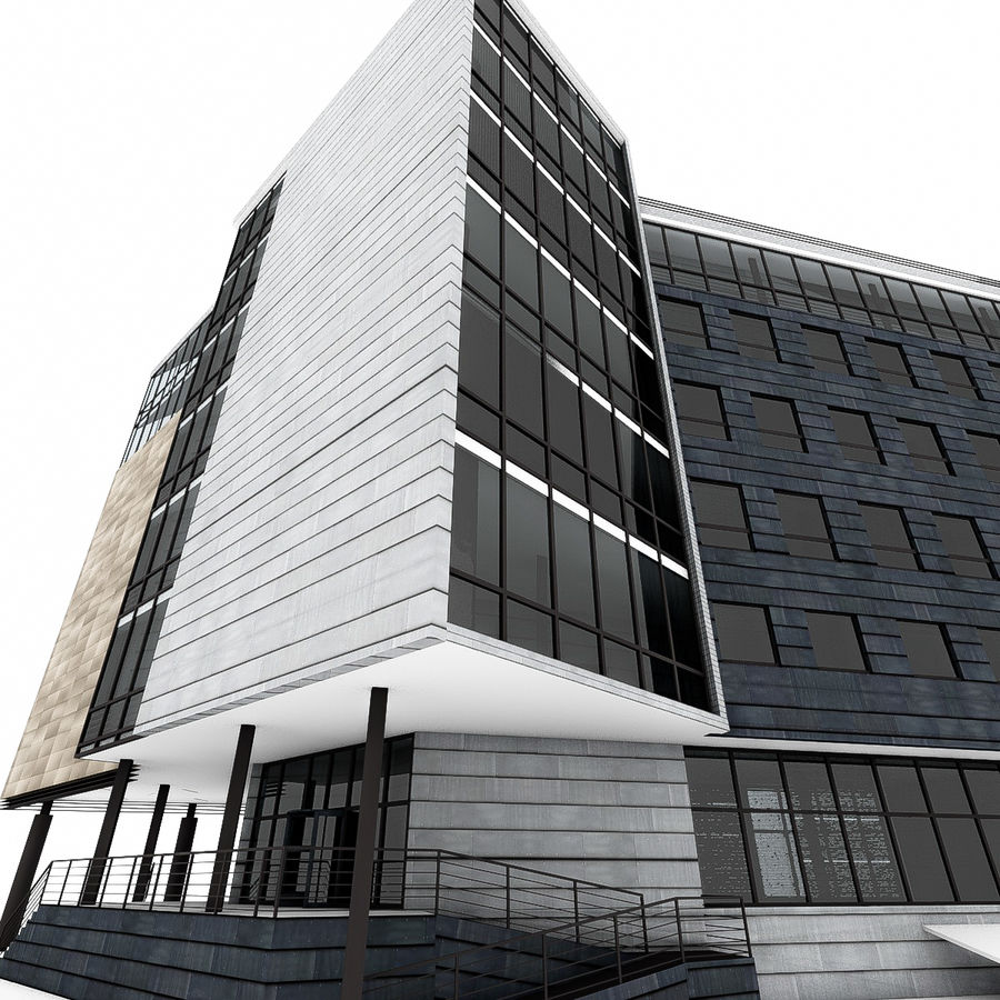 City Office Building 7 royalty-free 3d model - Preview no. 11