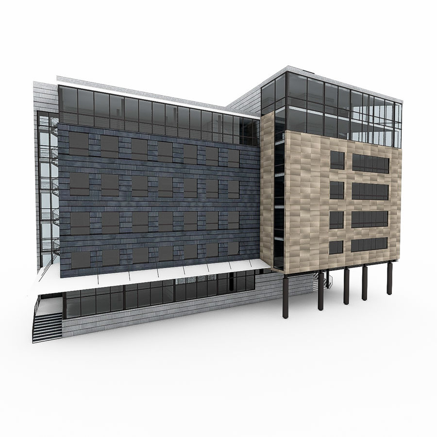 City Office Building 7 royalty-free 3d model - Preview no. 7